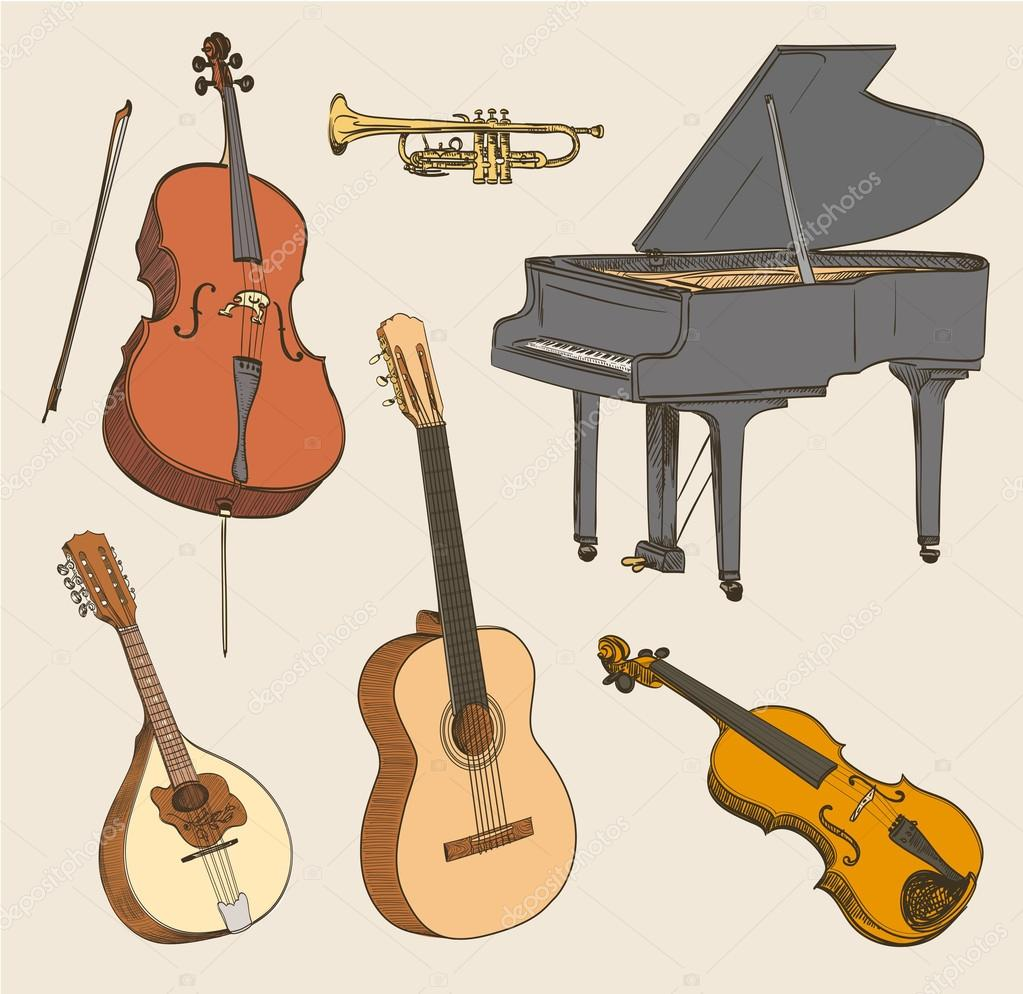 klassieke muziekinstrumenten