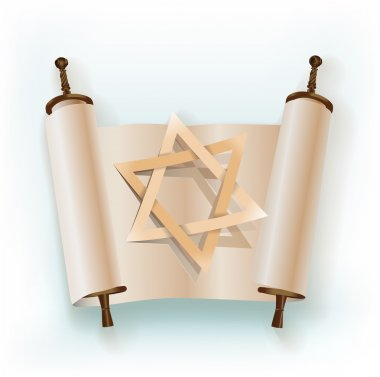 old scroll with star of David