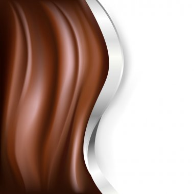 chocolate background with silver