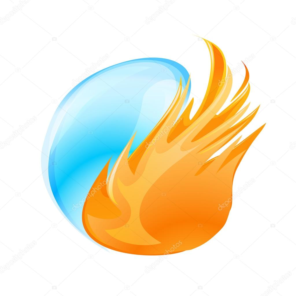 Abstract fire and water symbol stock vector ghenadie 66159886 abstract fire and water symbol on white vector by ghenadie biocorpaavc Choice Image