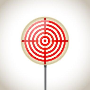 metallic red target