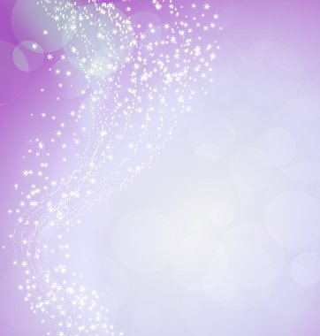 pink background with flying stars