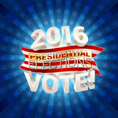 USA presidential elections background. vector illustration