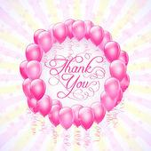 rám s balónky a hvězdy Děkuji pozadím. vektor