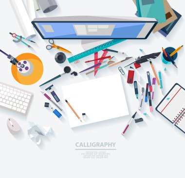 Calligraphy - Workplace concept