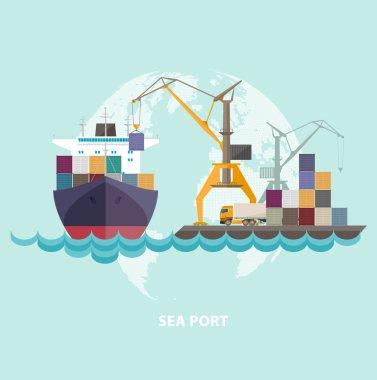 Cargo seaport .