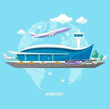 International airport.