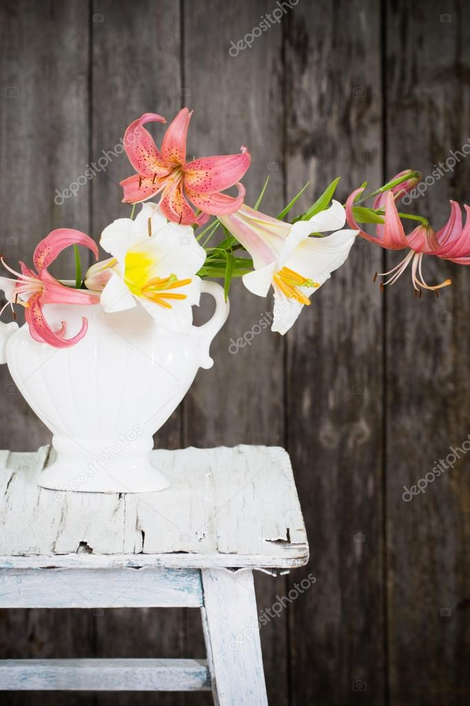still-life with beautiful lily