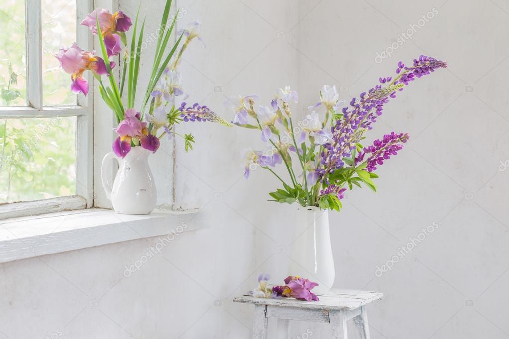 Flower Vase Sitting Inside Of Window Stock Photo Kruchenkova