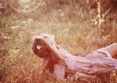 portrait of  hippie girl in sunglasses