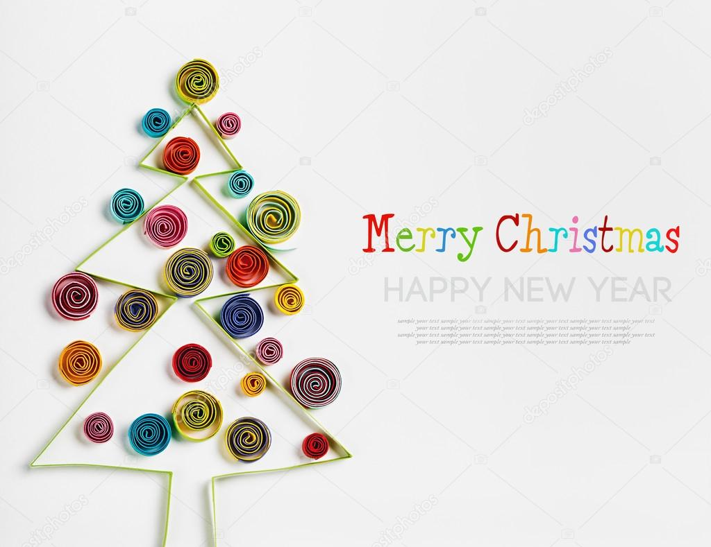 Paper Quilling Christmas Decorations Stock Photo C Doroshin 57705347