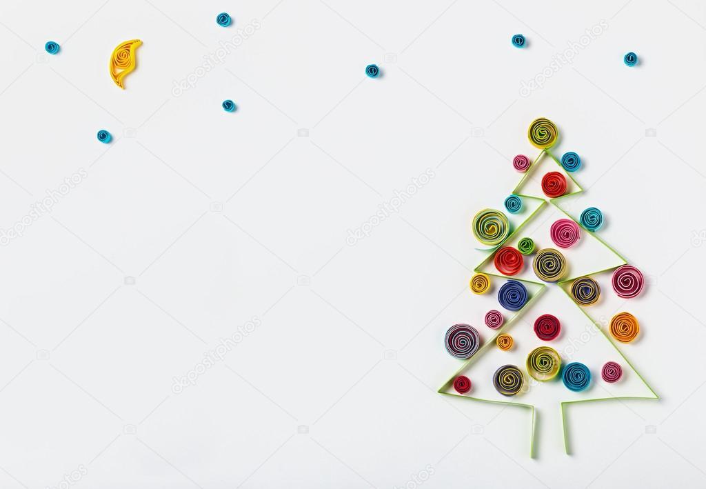 Decorazioni Natalizie Quilling.Decorazioni Di Natale Quilling Di Carta Foto Stock C Doroshin