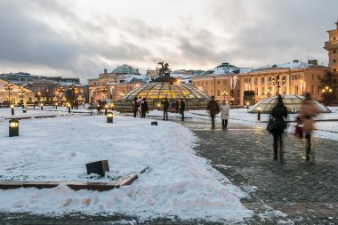 Manege Square in Moscow in winter