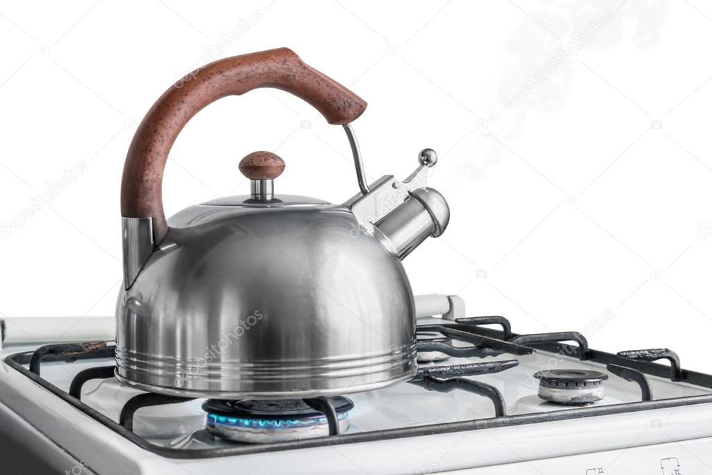 Wasserkocher Kochen Am Gasherd Stockfoto C Doroshin 78324390