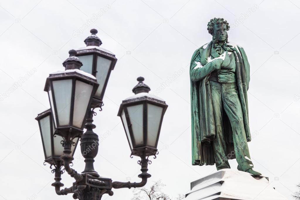 Denkmal Für Russische Dichter Alexander Puschkin Stockfoto