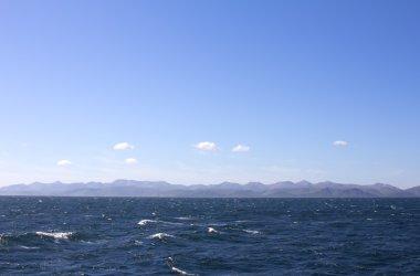 The Pacific ocean. Commander islands