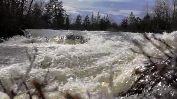 The rapid flow of the river 5