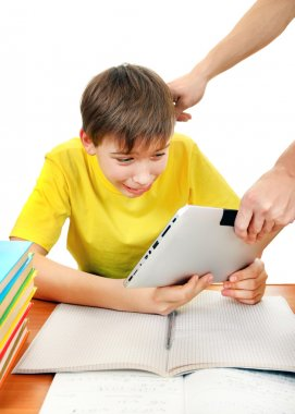Parent take away Tablet from the Kid