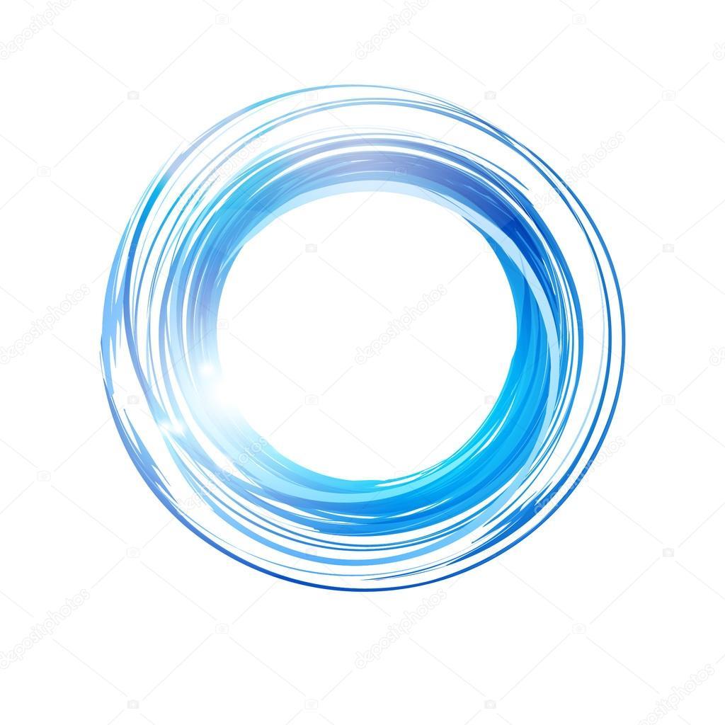 Vector abstract orange circle.  Logo design template .