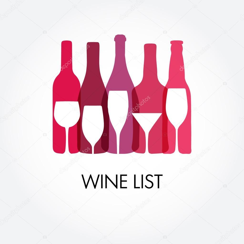 modelli di progettazione dei vini con diverse bottiglie di vino vettoriali stock mcherevan. Black Bedroom Furniture Sets. Home Design Ideas