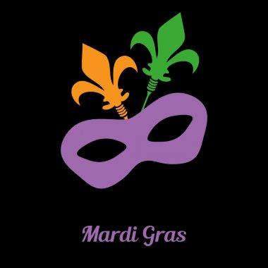 Mardi gras mask. Vector card invitation design.