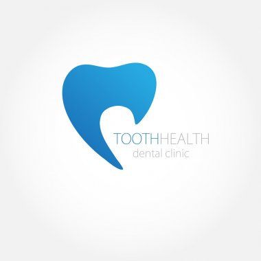 Dental clinic logo with blue tooth icon.
