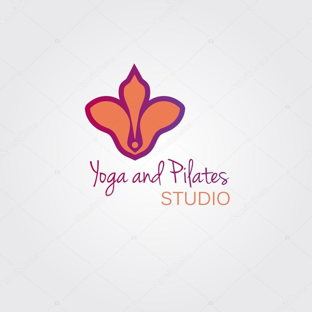 Kosmetiksalon logo  Lotus Blume Logo Vorlage Konzept. Logo Zeichen für Yoga-Studio oder ...