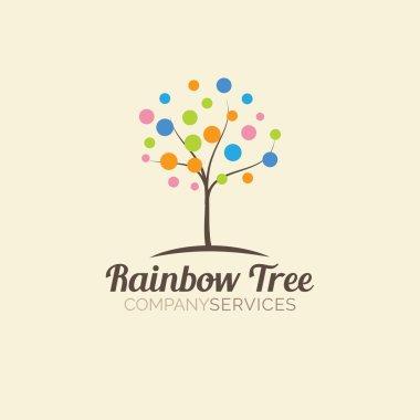 Abstract tree logo design template. Logotype icon.
