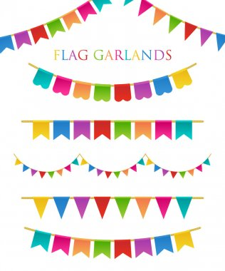 Vector Illustration of Colorful Garlands