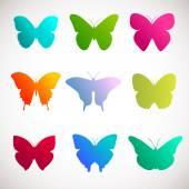 Fotografie Vector collection of butterflies.