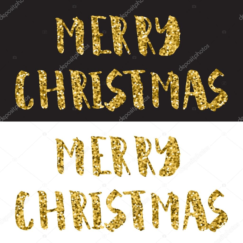 frohe weihnachten design schriftzug gold glitter text auf. Black Bedroom Furniture Sets. Home Design Ideas