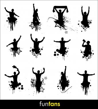 Silhouettes for advertising banner sports championships and concerts