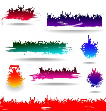 Set banners for sporting events and concerts clip art vector
