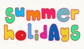 Světlé letní prázdniny nápisy