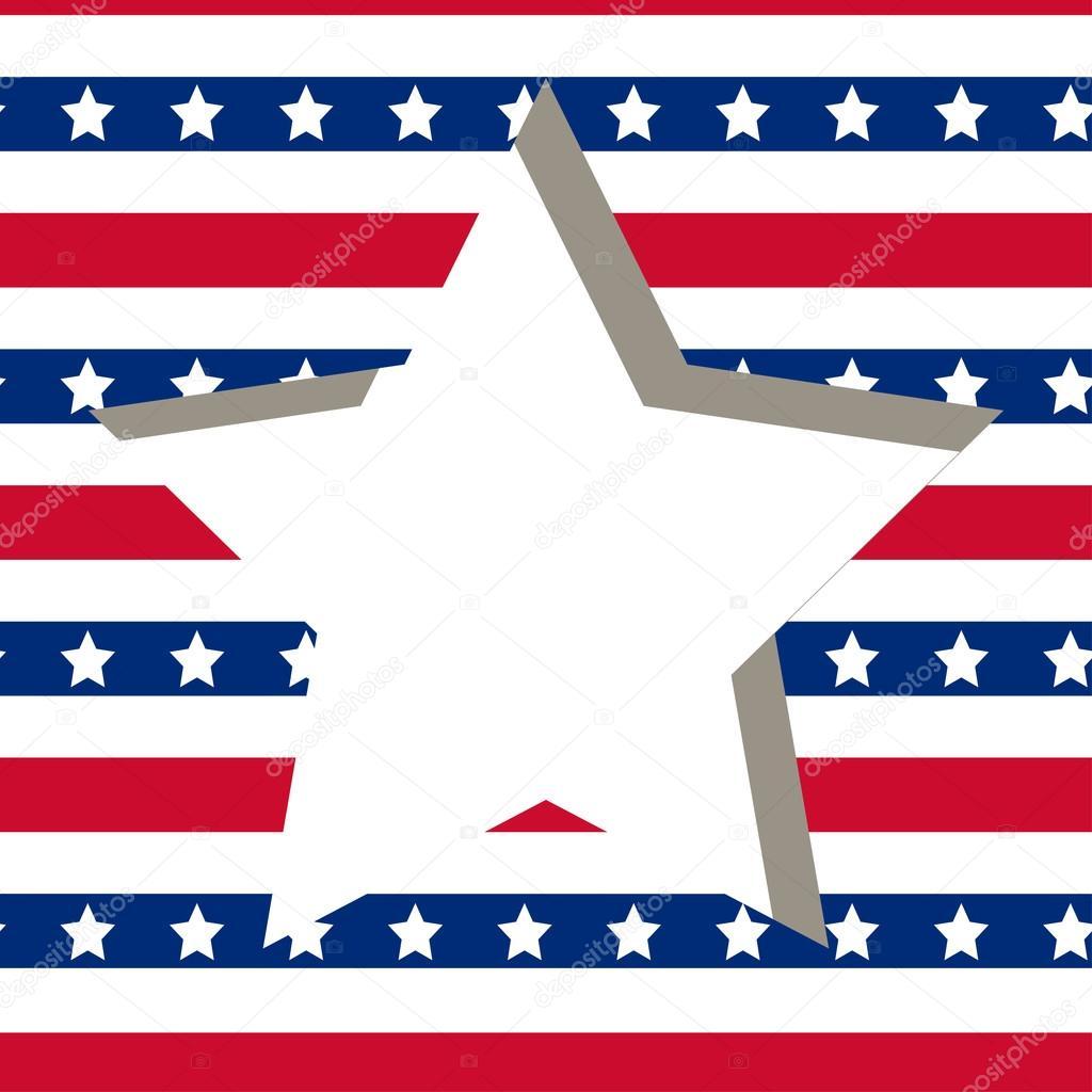 American star Rahmen — Stockvektor © de-kay #113513572