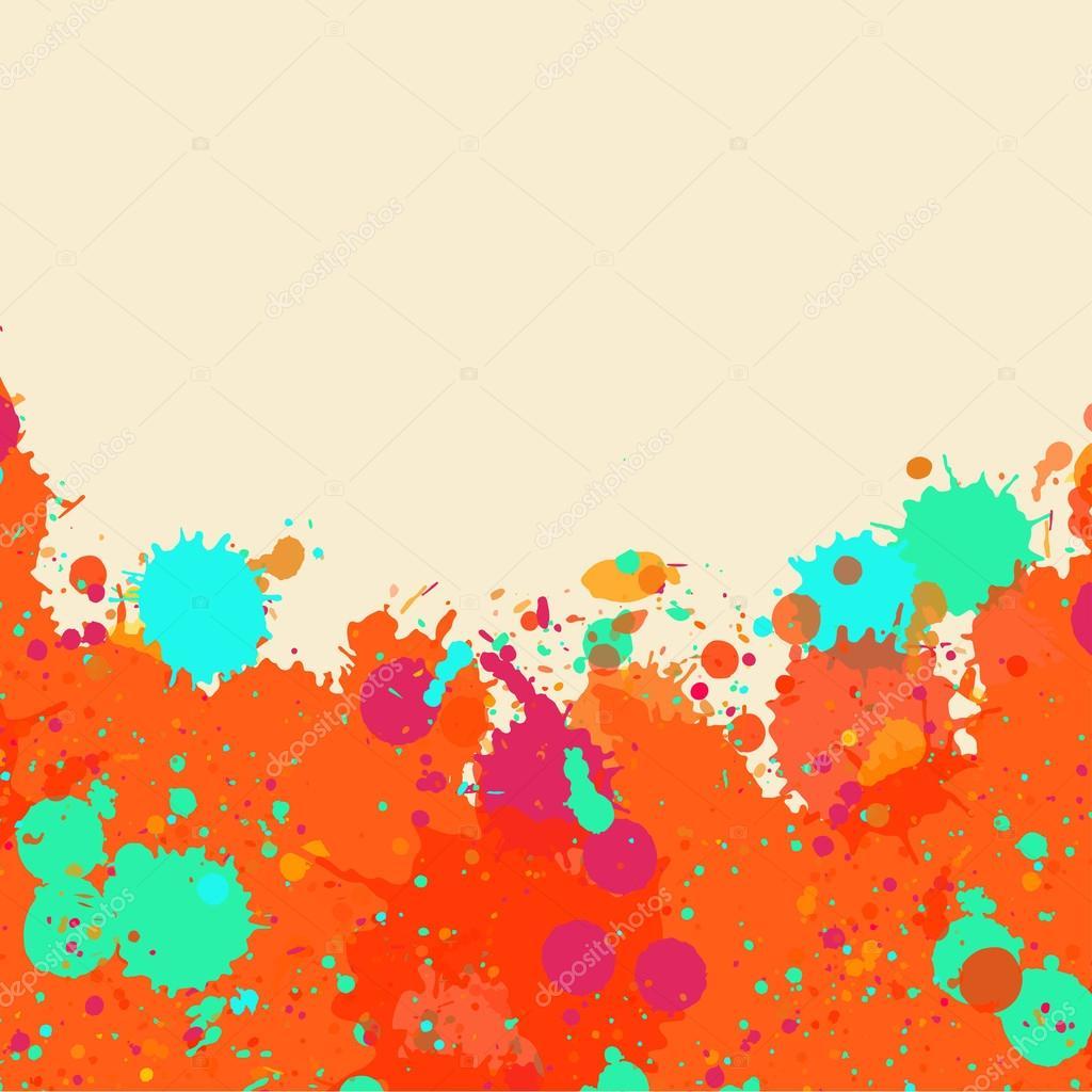 Marco de salpicaduras de pintura acuarela — Vector de stock © de-kay ...