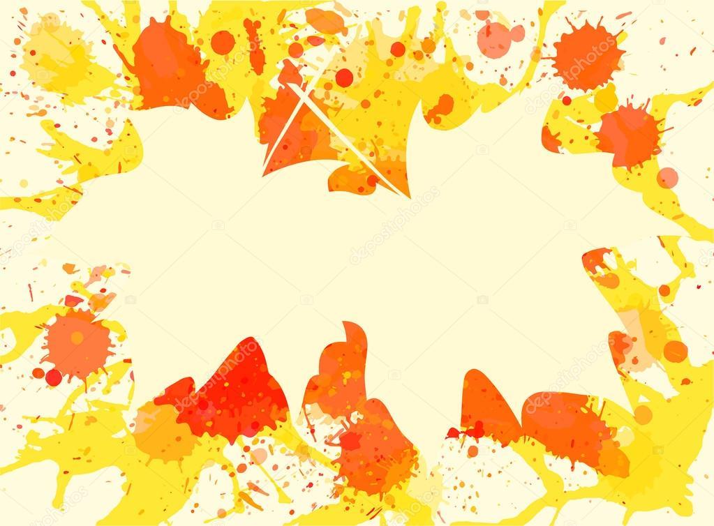 Las hojas de arce sobre fondo de pintura — Vector de stock © de-kay ...