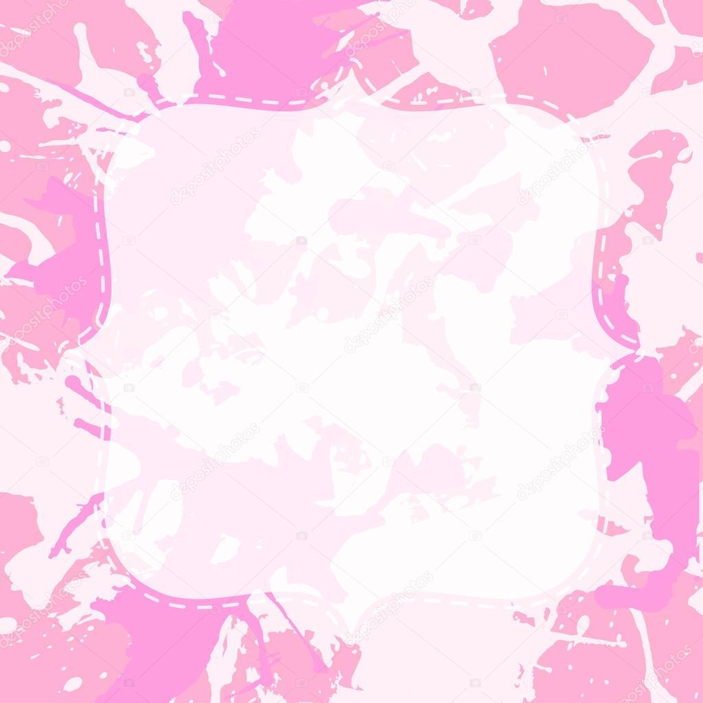 Spritzer weißen Rahmen über künstlerisches malen — Stockvektor © de ...