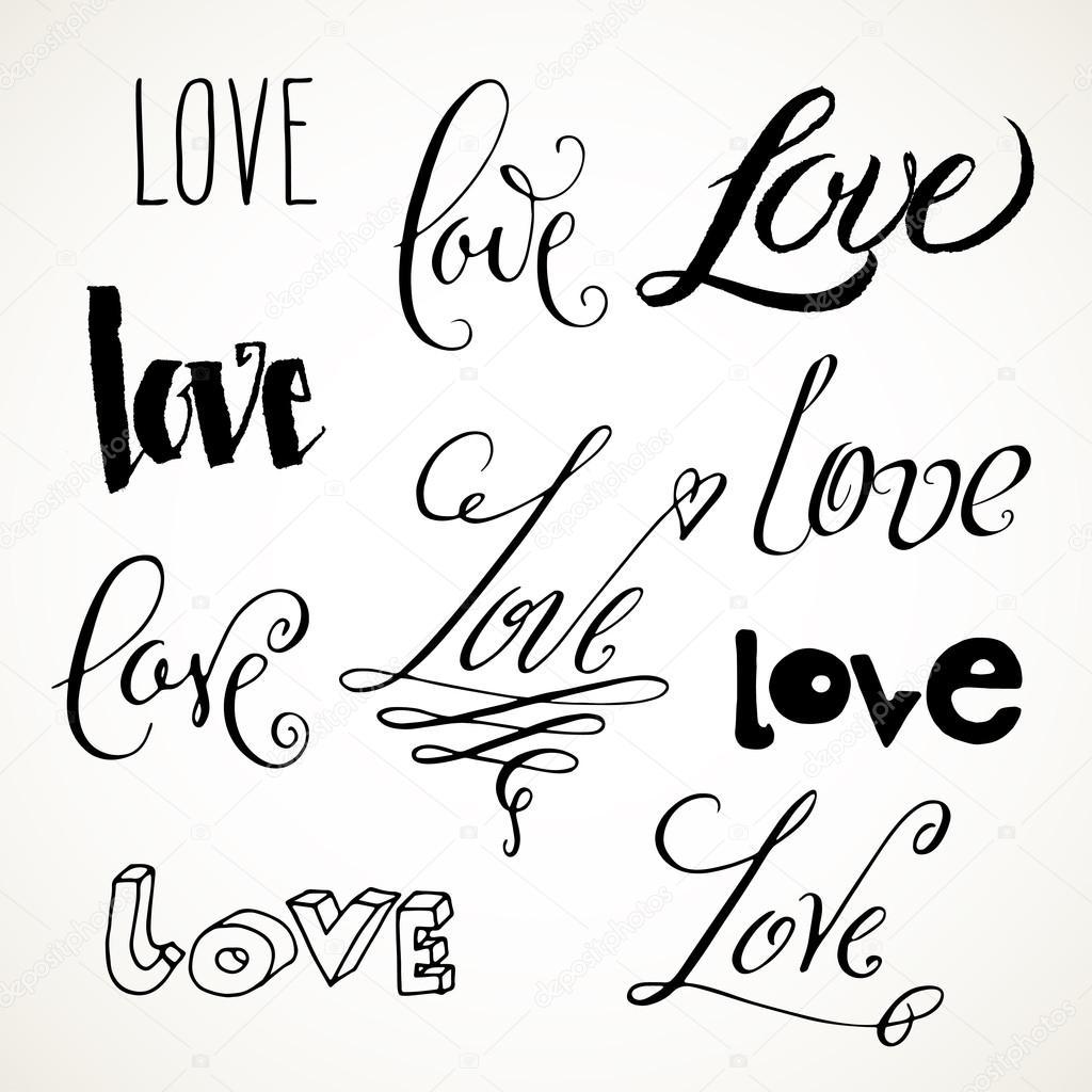 Love Lettering Hand