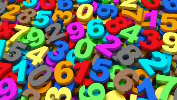 Numbers. from zero to nine.