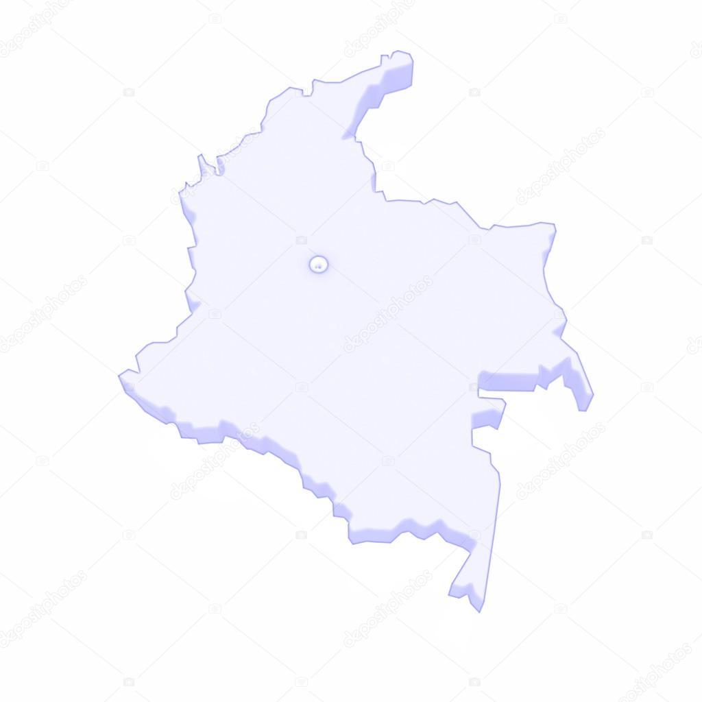 Mapa Kolumbie Stock Fotografie C Tatiana53 61955907