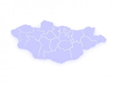 Map of Mongolia.