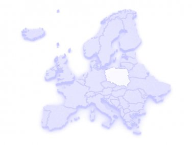 Map of Europe and Poland.