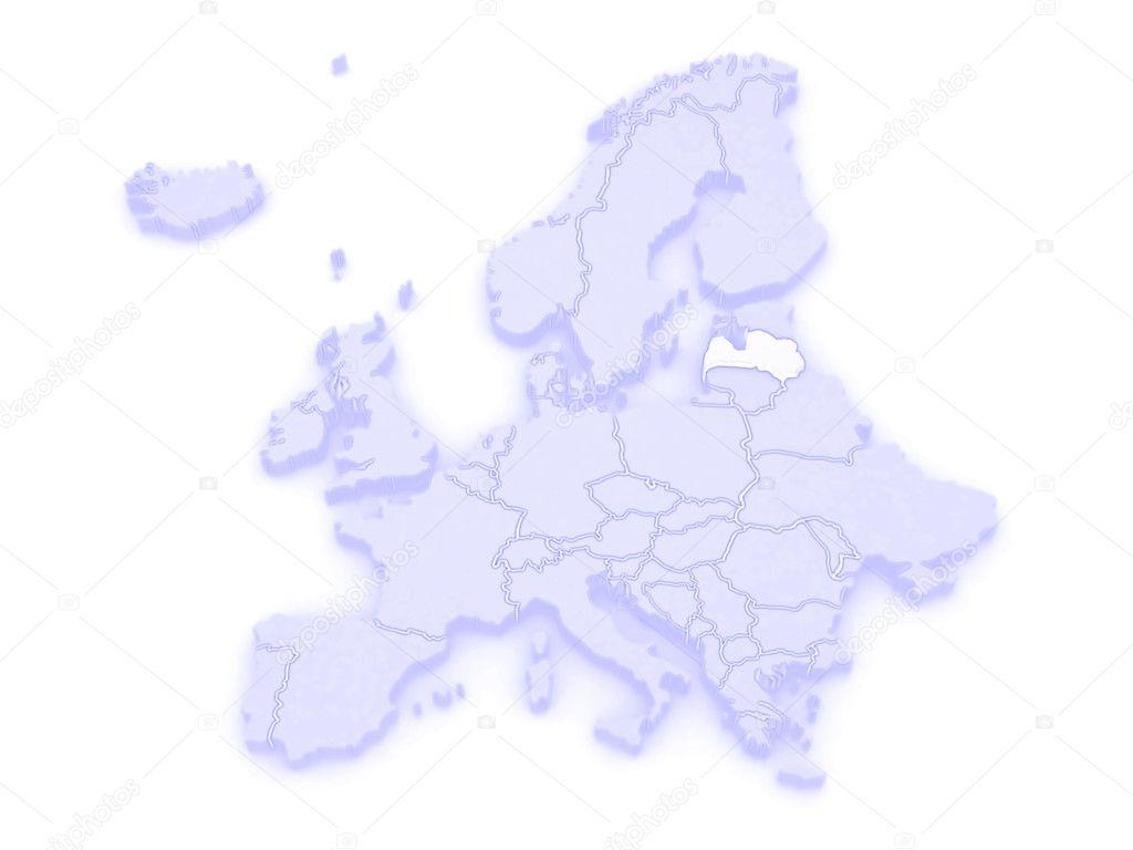 Lettland Karta Europa.Karta Over Europa Och Lettland Stockfotografi C Tatiana53 62124805