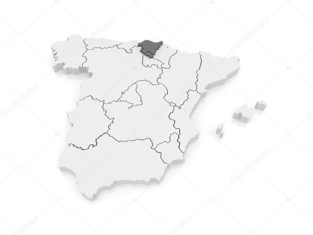 Basque Map Of Spain.Map Of Basque Country Spain Stock Photo C Tatiana53 62218543