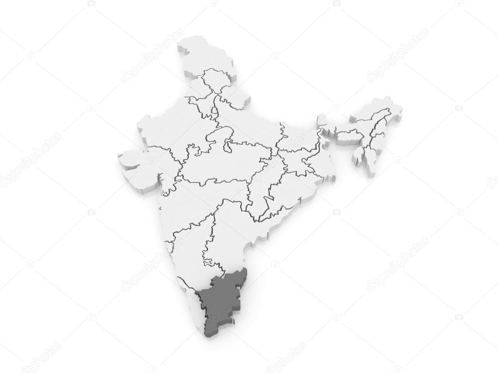 Map of tamil nadu india stock photo tatiana53 62218761 map of tamil nadu india 3d photo by tatiana53 gumiabroncs Images