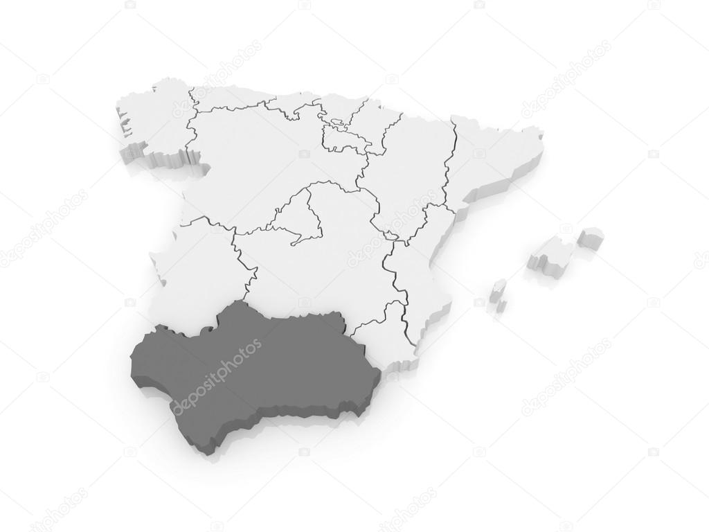 Map of Andalusia Spain Stock Photo Tatiana53 62218771