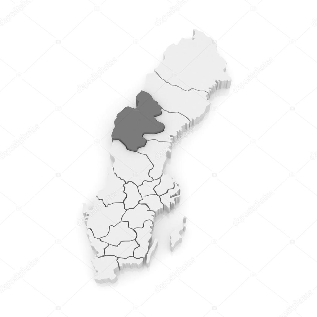 Map Of Jamtland Sweden Stock Photo Tatiana - Jamtland sweden map
