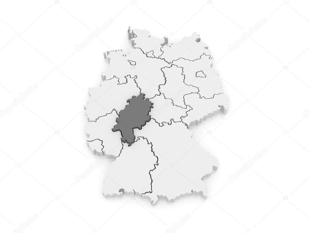 Map of Hesse Germany Stock Photo Tatiana53 62219947