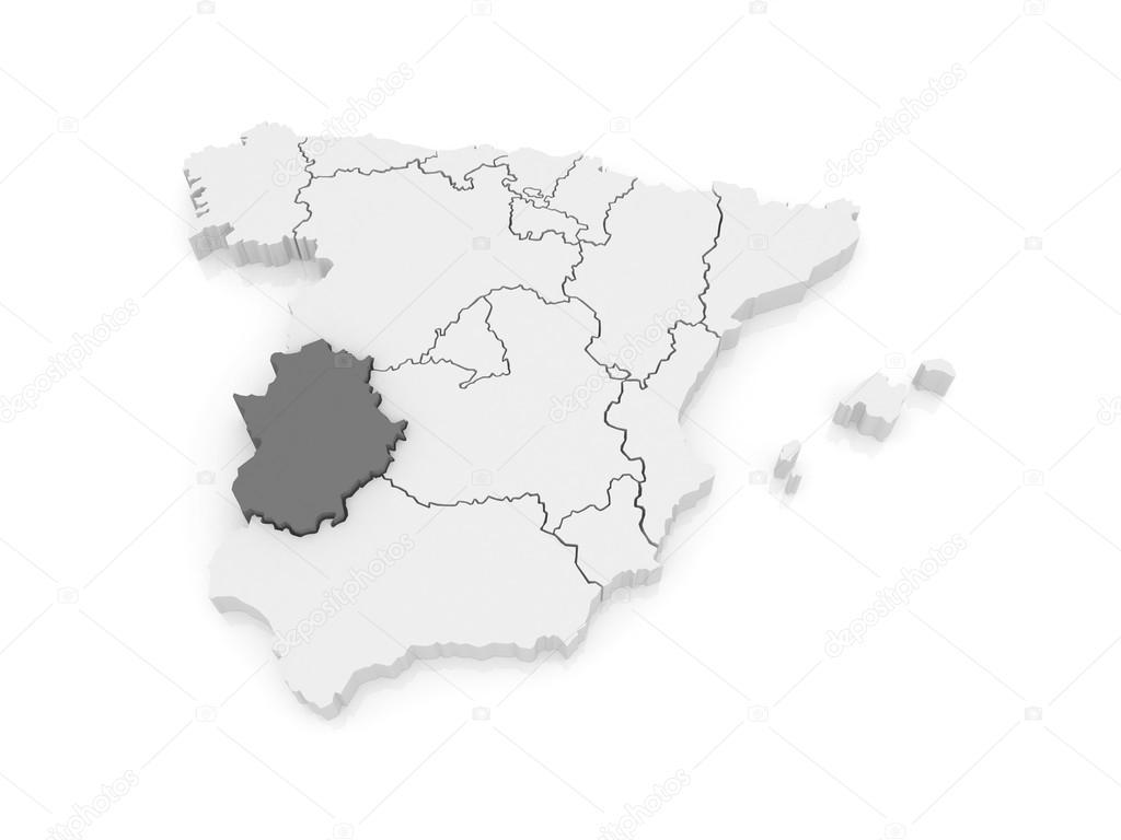 Map Of Spain Extremadura.Map Of Extremadura Spain Stock Photo C Tatiana53 62220219